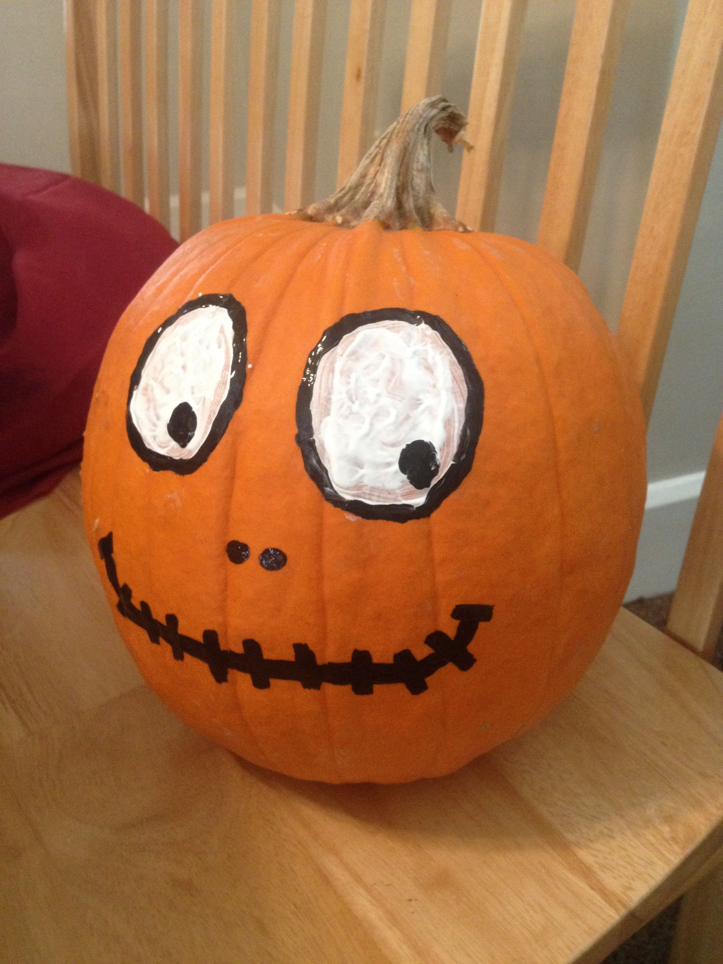 Pumpkin Face Painted Halloween Mis Hijos Pinterest
