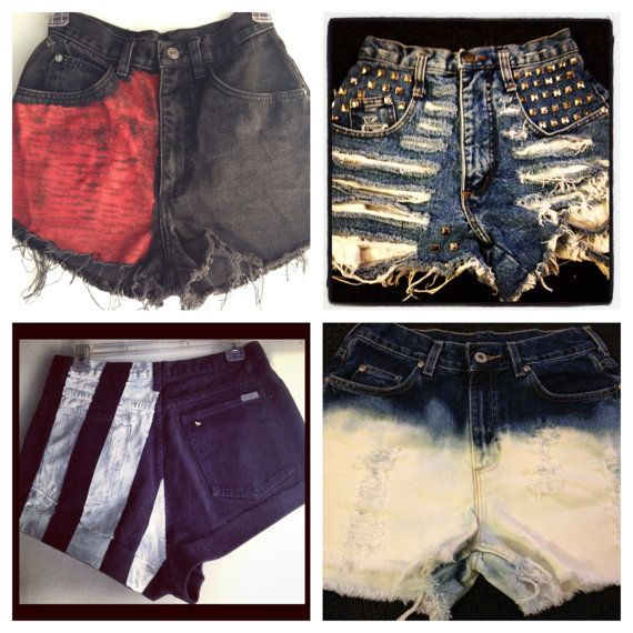 Custom High Waisted Denim Shorts MADE TO ORDER All by ThriftSTOP, $30.00