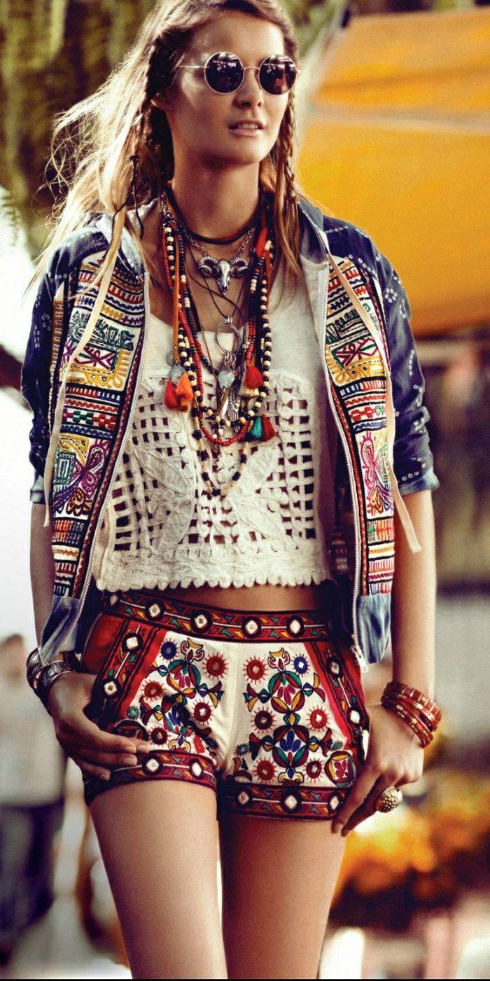 1001 id es pour la tenue hippie chic qui aider se sentir libre vetement hippie chic. Black Bedroom Furniture Sets. Home Design Ideas
