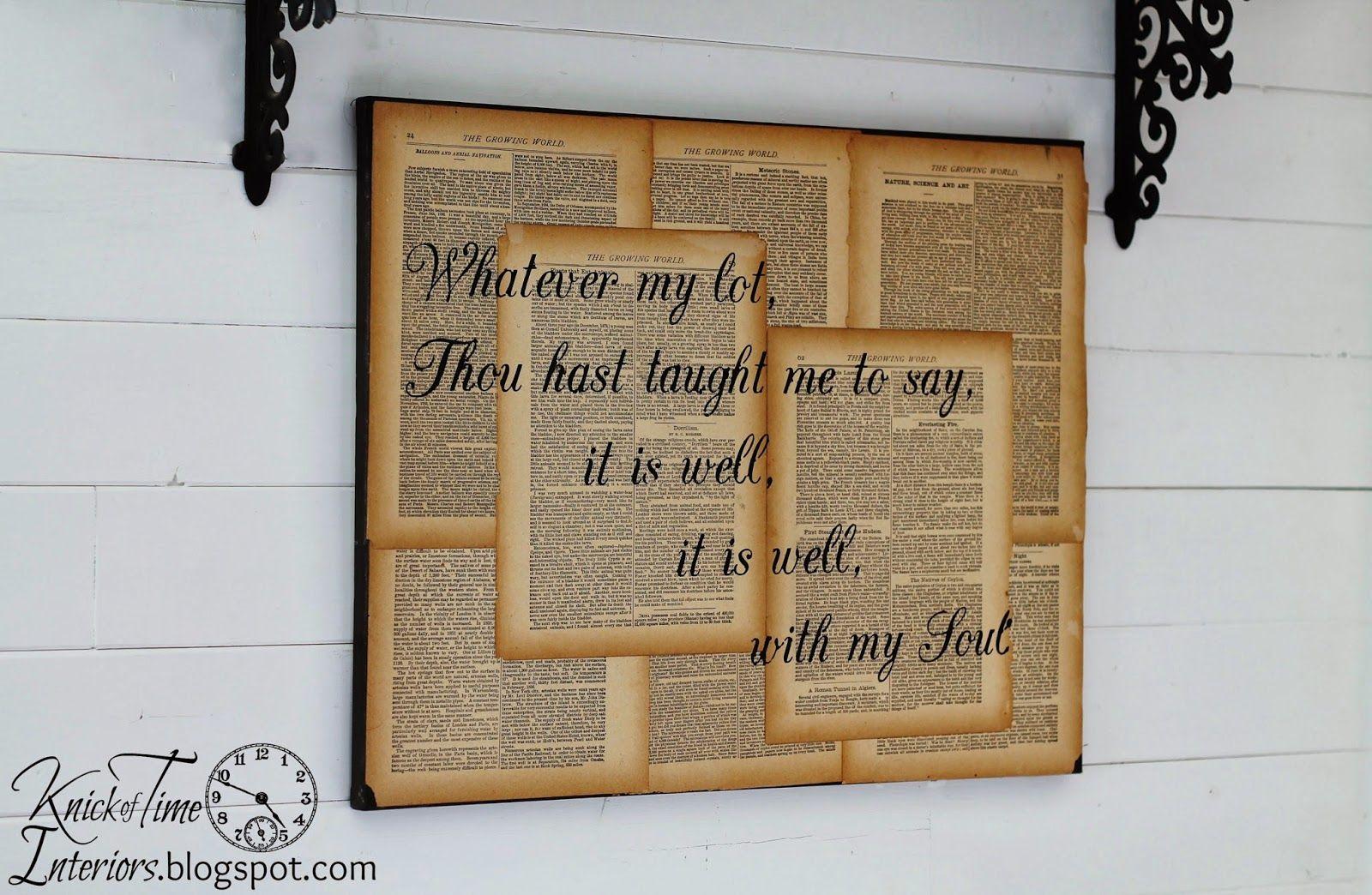 Repurposed Book Page Canvas Hymn Art | DIY Crafts | Pinterest ...