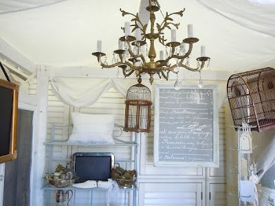 The Vintage Farmhouse Hortons French Flea Market Booth E Chandelier