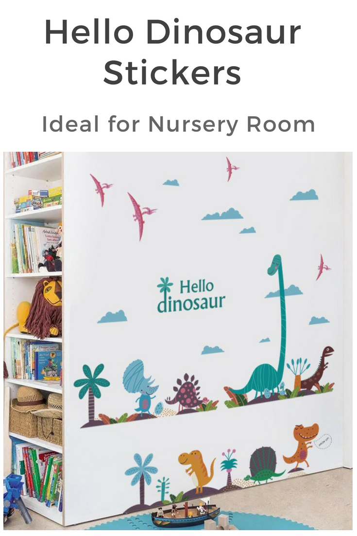 Cute cartoon dinosaur wall art ideas nursery ideas baby room decor