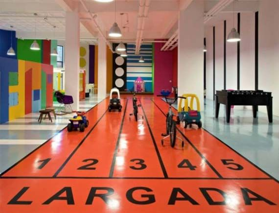 Playful Design Concept of Indoor Playground with Race Arena ...