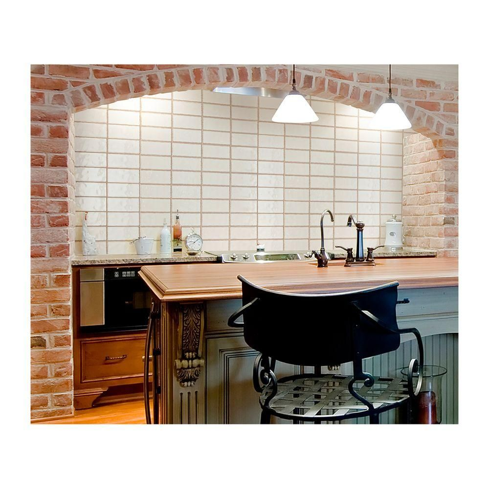 Daltile structured effects minimal white 3 in x 6 in glazed create a distinctive look to your kitchen or bathroom walls by adding this daltile structured effects minimal white glazed ceramic wall tile dailygadgetfo Images
