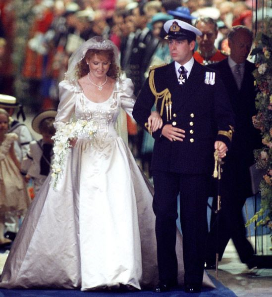 British Royal Wedding Gowns: Prince Andrew And Sarah Ferguson - 23 Jul 1986