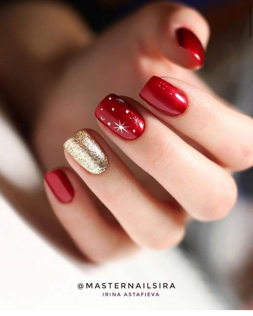 2019 2020 Beautiful Nail Designs For Winter Red Acrylic Nails