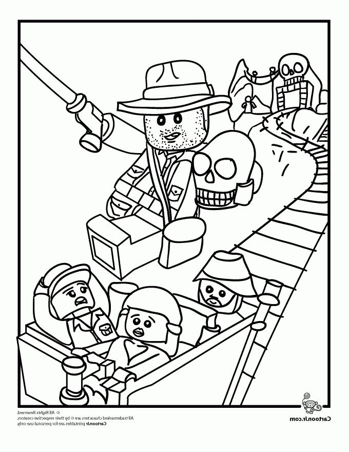 The Amazing Lovely Coloring Pages Of Lego Indiana Jones Http