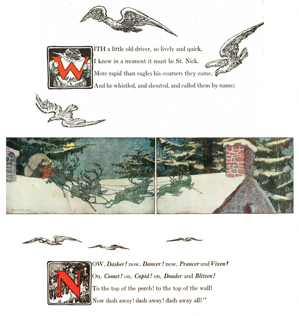 Twas the Night Before Christmas Story   PANEL 5   Illustrations by ...