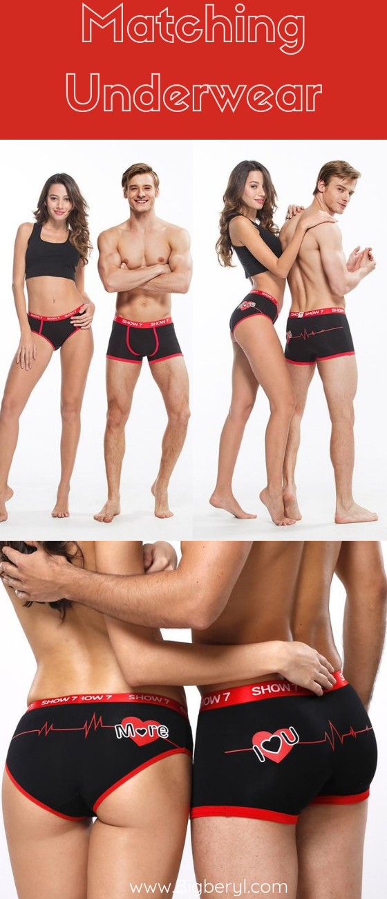 9ab3366040da Matching Couple Outfits and Undies! This valentine spice things up with  these matching underwear for couples! #matchingoutfits #swag #couplethings  ...
