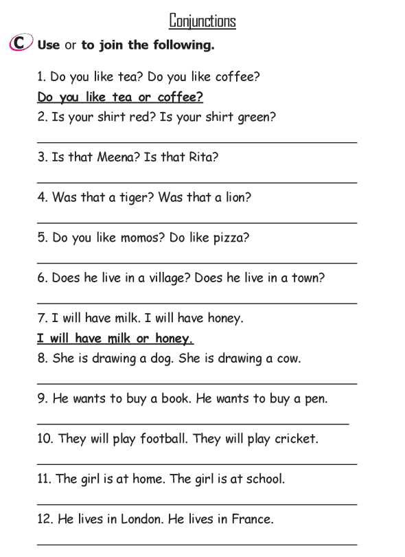 Grade 2 Grammar Lesson 15 Conjunctions 3 Grade 2
