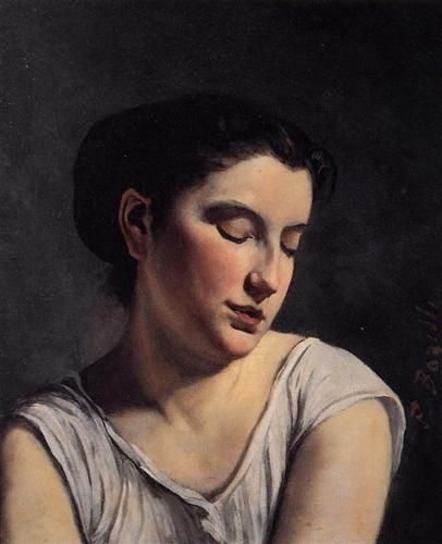 Young Woman with Lowered Eyes  - Frederic Bazille