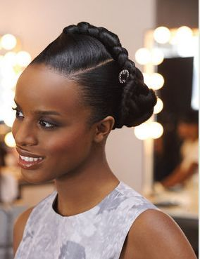 Black Colored Women Of All Ages Of Any Age Who Straighten Or Press Their Hair Spe Black Wedding Hairstyles Braided Hairstyles For Wedding Braids For Black Hair
