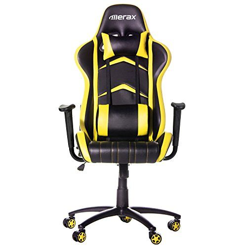 Merax Racing Style PU Leather Office Chair 180 Degree Back