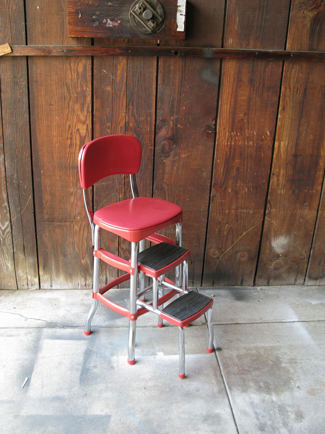Reserved for channon vintage retro red cosco step stool