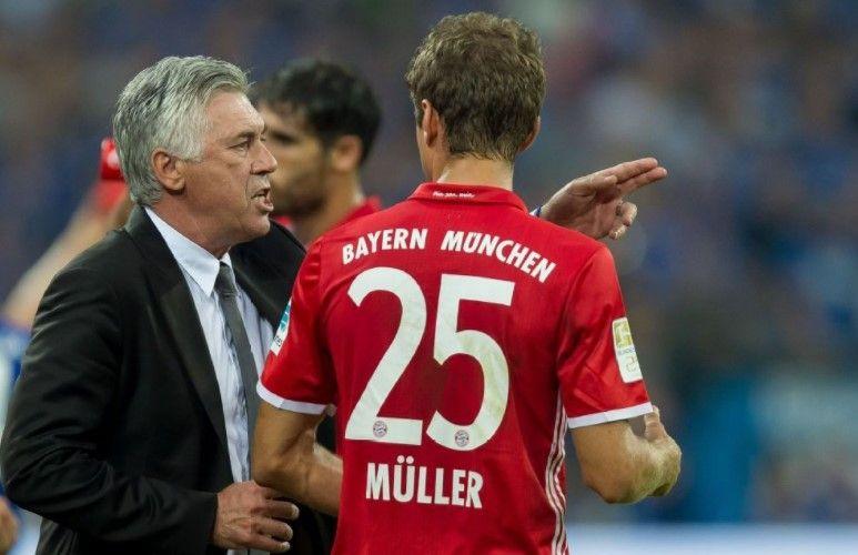 Resultado de imagen de Thomas Müller y Carlo Ancelotti