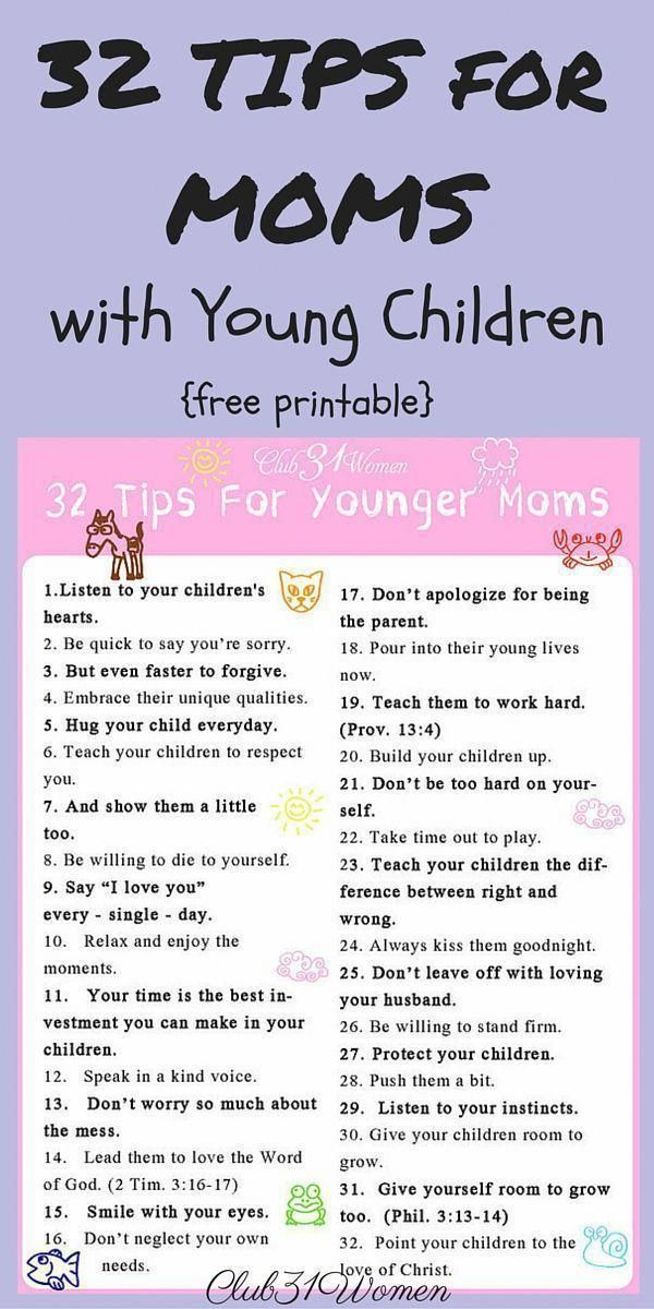 32 Tips I'd Like to Pass Along to Younger Moms #parenting