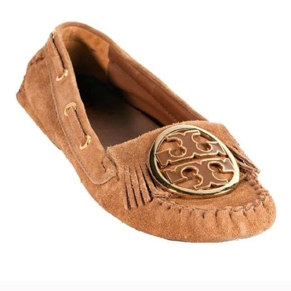 84bddc2fad8 Tory Burch Alexandra moccasins Excellent condition! Gorgeous suede very  rare Tory Burch driving moccasins! Large logo and fringe for a chic boho  look.