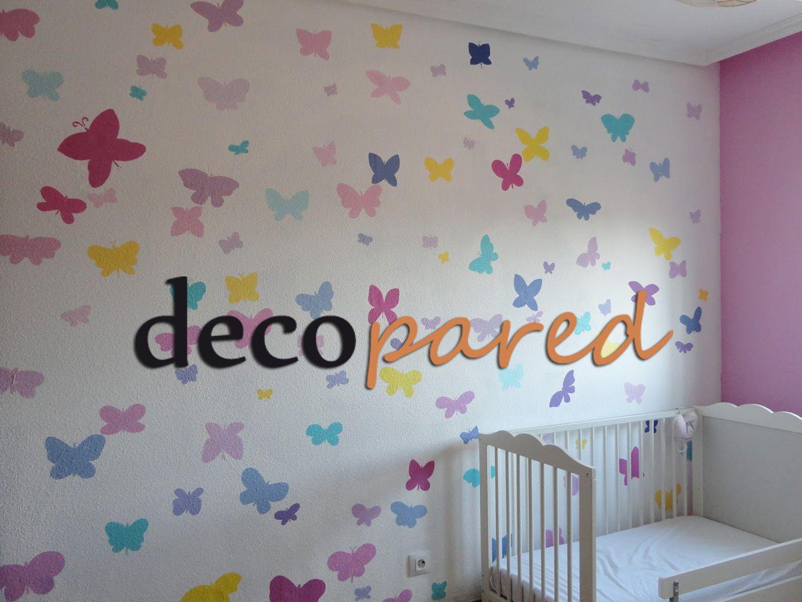 Murales En Paredes Con Gotele Mariposas Para Habitacion De Bebe Murales Pintados Mural Infantil Murales