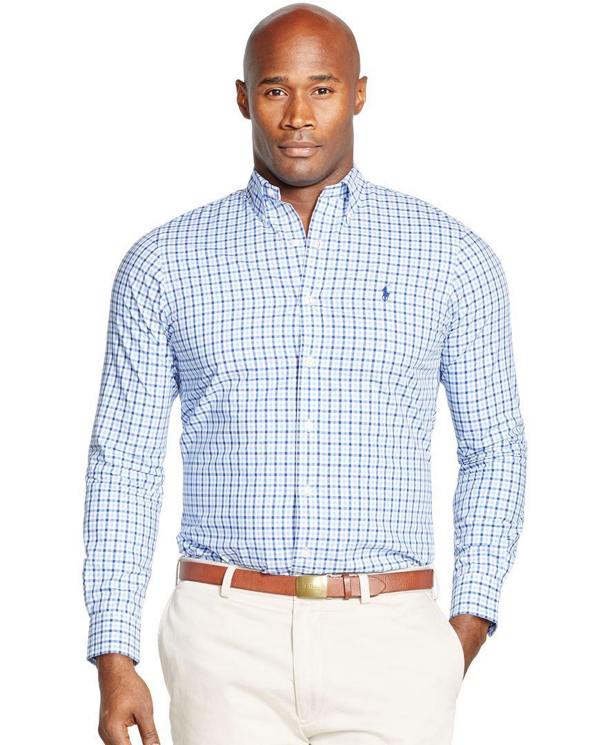 38c76e24 Polo Ralph Lauren Big & Tall Bengal-Striped Poplin Shirt | Ralph ...
