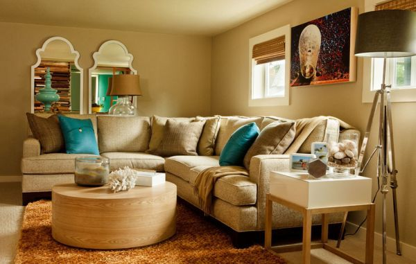 Decorating With Turquoise Colors Of Nature Aqua Exoticness Living Room Turquoise Blue Living Room Brown Living Room