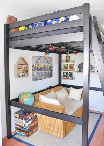 Leseplatz #Ikea #Jungszimmer #Hochbett #Schulkind #Jugendzimmer #Leseecke  #Couch #