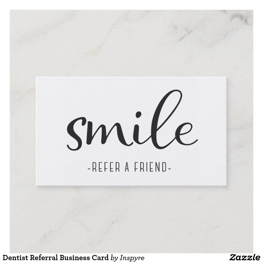 Dentist Referral Business Card Zazzle Com Standard Business Card Size Business Card Size Business Cards