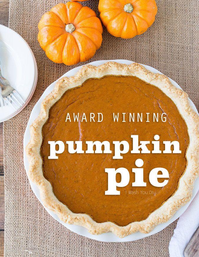 This award winning Pumpkin Pie Recipe is so good! Definitely the best pumpkin pie I've ever tasted!