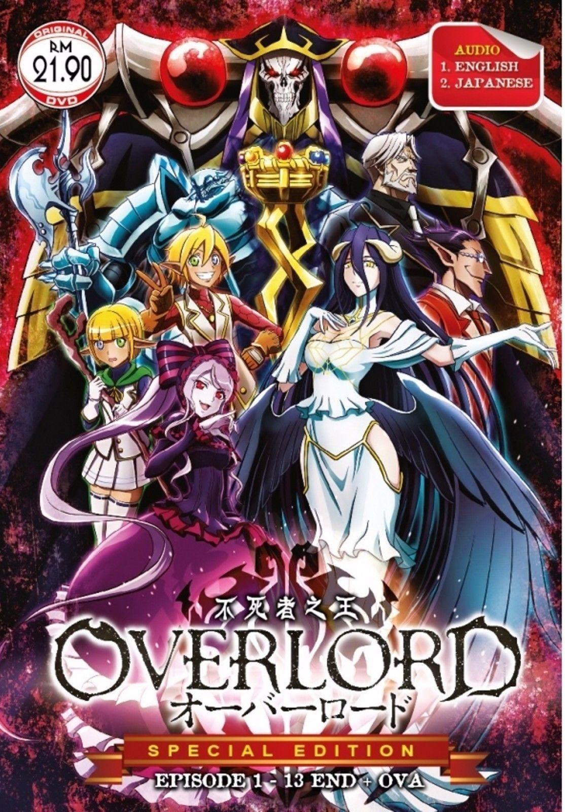 9.88 Dvd English Version Anime Overlord ( Tv 113 End