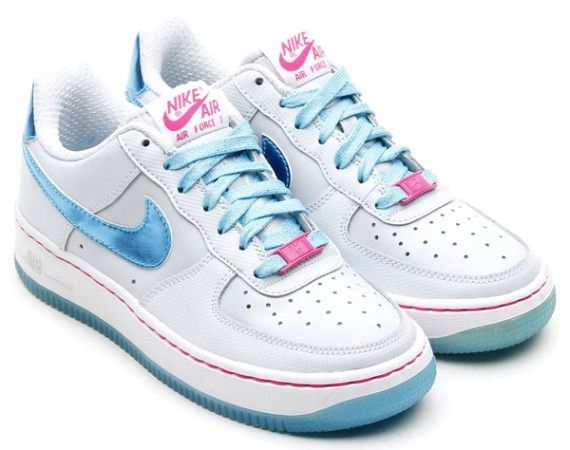 Nike Air Force 1 Low GS  Pure Platinum Gamma Blue  Pink Foil ... f6007367d