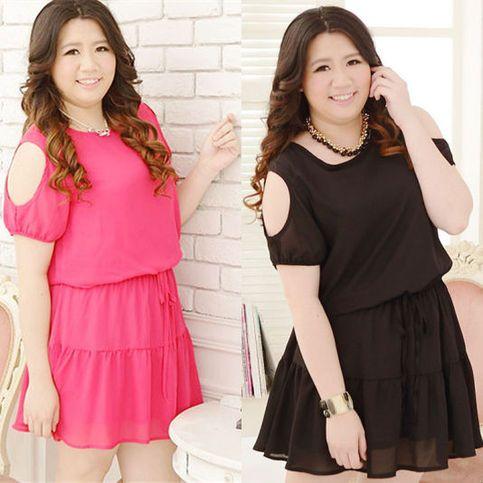 Black Summer Beach Chiffon Dress Plus Size Free Shipping SP140954