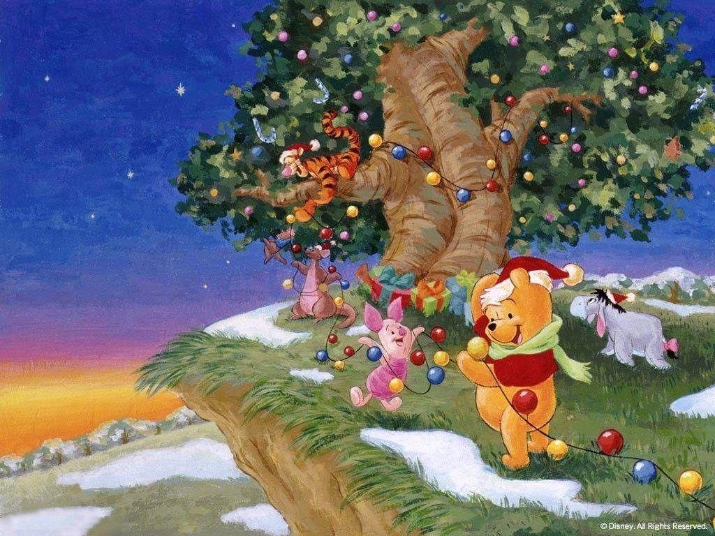 Winnie The Pooh Christmas Wallpapers Wallpaper Disney Winnie The