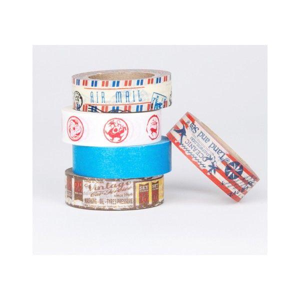 Klebeband aus Reispapier zum Verpacken, Bekleben, Basteln und Dekorieren: Fünf toll aufeinander abgestimmte Muster und Unifarben sind in diesem Set hübsch verpackt zusammengestellt.  Inhalt: 5 Rollen mit je 10 m, Breite 15 mm