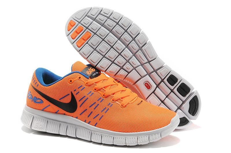 New Nike Free 6.0 2014 Orange Blue Black Womens Running