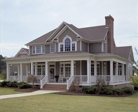 Plan 16804WG: Country Farmhouse with Wrap-around Porch | Pinterest ...