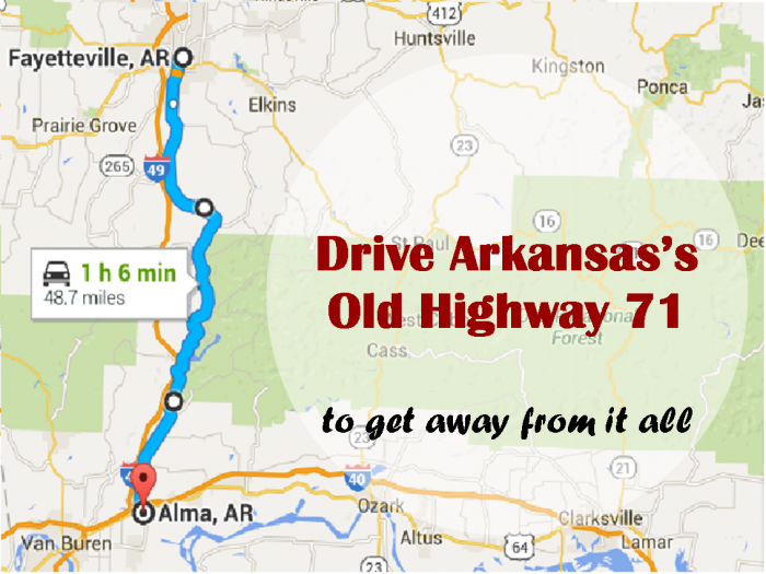 Take This Road To Nowhere In Arkansas To Get Away From It All In