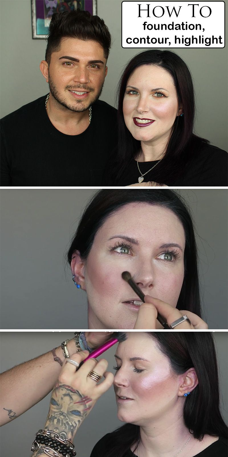 How to apply foundation contour and highlighter apply foundation how to apply foundation concealer contour and highlighter with makeup artist mickey baditri Image collections