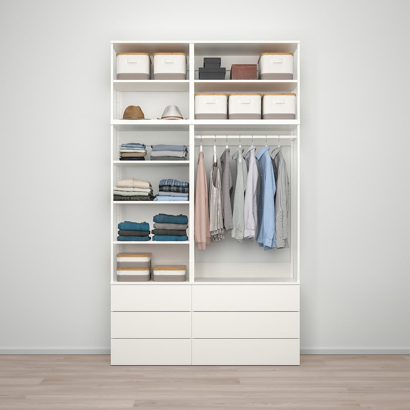 Platsa Wardrobe With 6 Drawers White Fonnes White Ikea Ikea Ikea Open Wardrobe Wardrobe Room