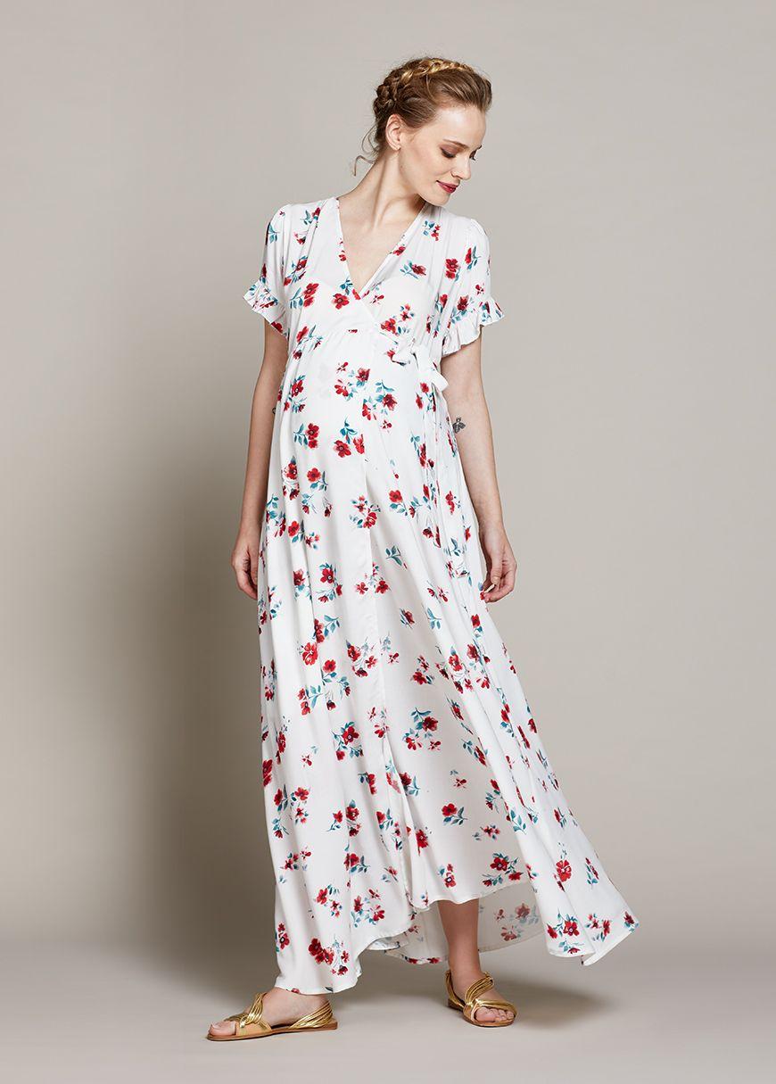 1f5840ba54294c Sublime robe longue coupe portefeuille. Décolleté cache-coeur fermé ...