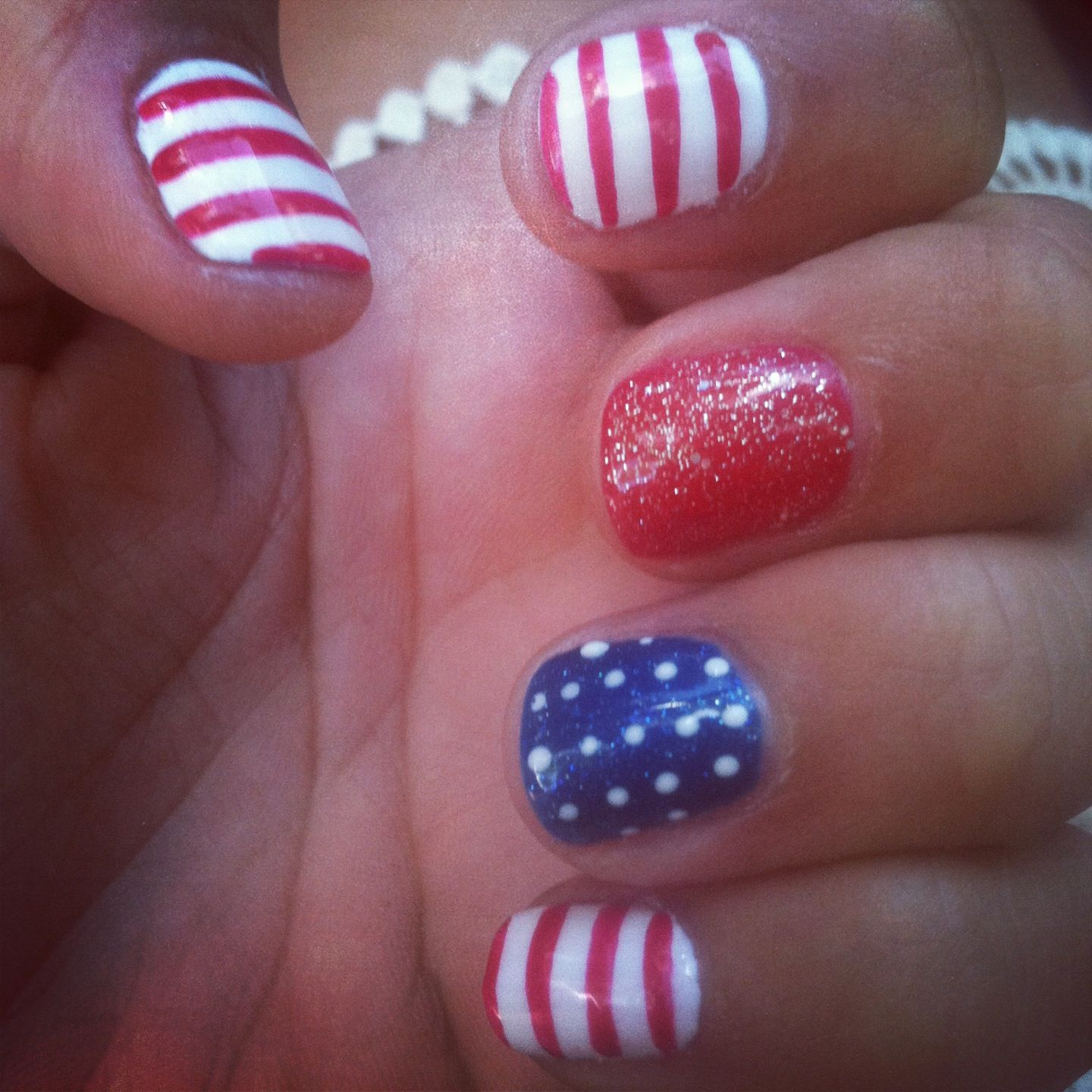 fourth of july nails design
