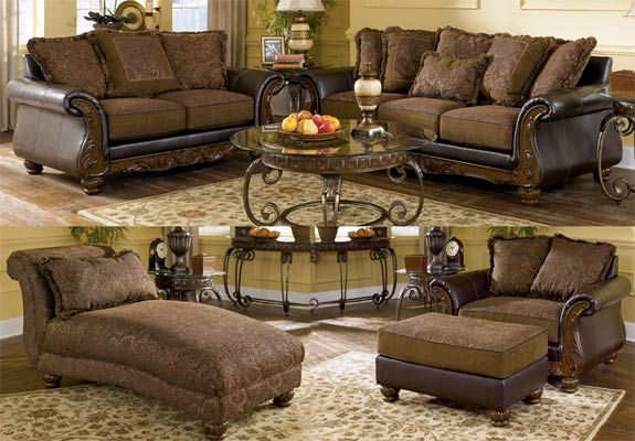 Ashley Furniture Living Room Sets | ... Ashley Furniture Signature Design  Wilmington Walnut Living - Ashley Furniture Living Room Sets Ashley Furniture Signature