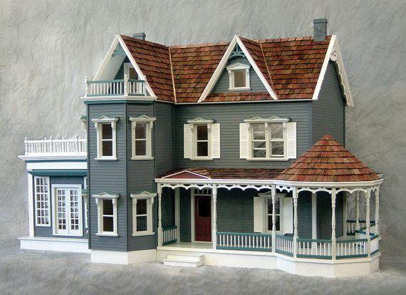 Ähnliche Artikel wie Maßstab ein Zoll, der Rose Garden Villa, ein Hafen-Deluxe viktorianisches Puppenhaus-Kit, eine Scala, Treasury-Liste auf Etsy