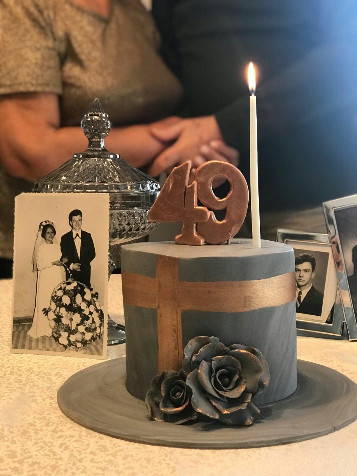 Wedding Anniversary Cake 49th Anniversary Yildonumu Pastasi Anniversarycake Anniversary Weddingca 49th Anniversary Anniversary Cake Wedding Anniversary Cake