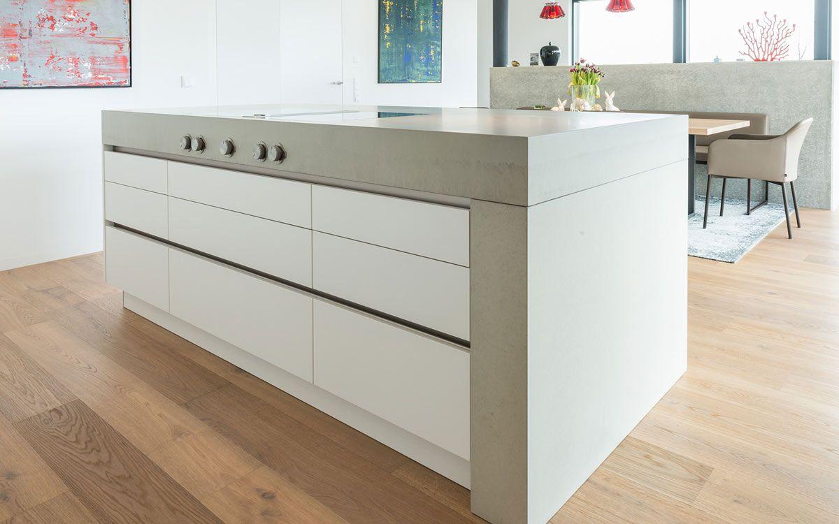 küche mit betonarbeitsplatte | küche | pinterest