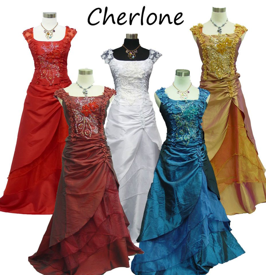 Chiffon Bridesmaid Dress Formal Evening Party Ball Gown Prom Plus Size UK 8-26