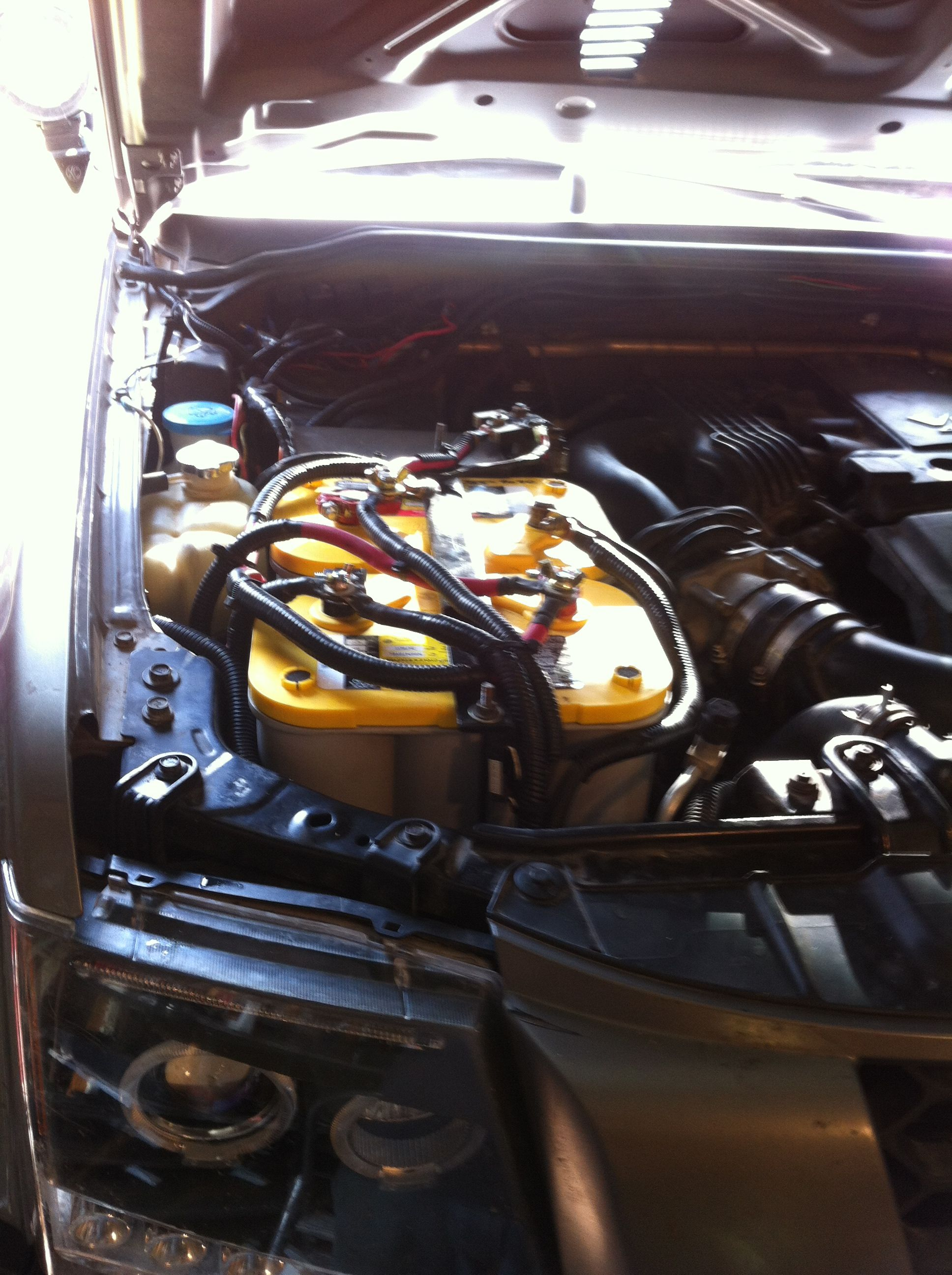 Xterra Dual Battery Set Wiring Harness Painless Performance Kits Batteries Optima Yellow Tops