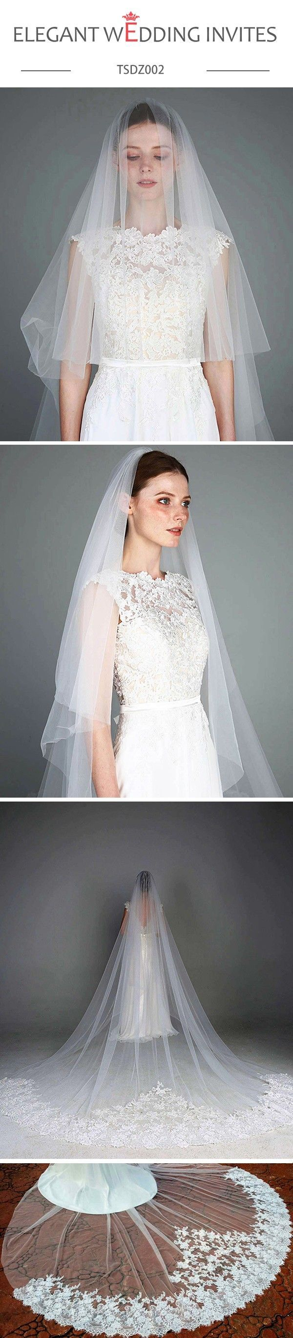 Cathedral veil romantic tiers lace wedding bridal veil boho