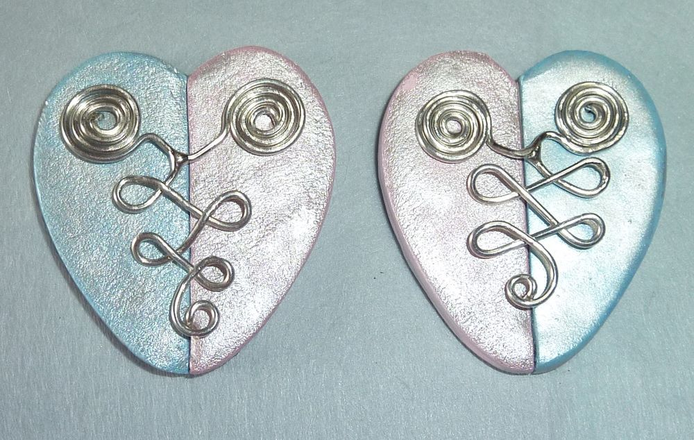 new earring base materials are polymer clay and wire | wire +clay ...