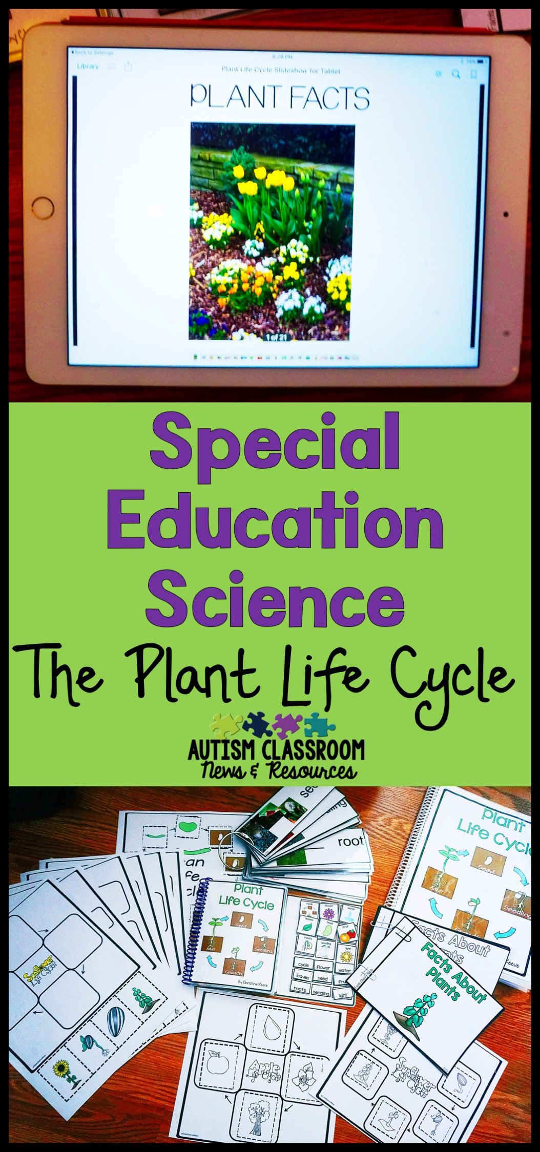 Plant Life Cycle Special Education Science Unit