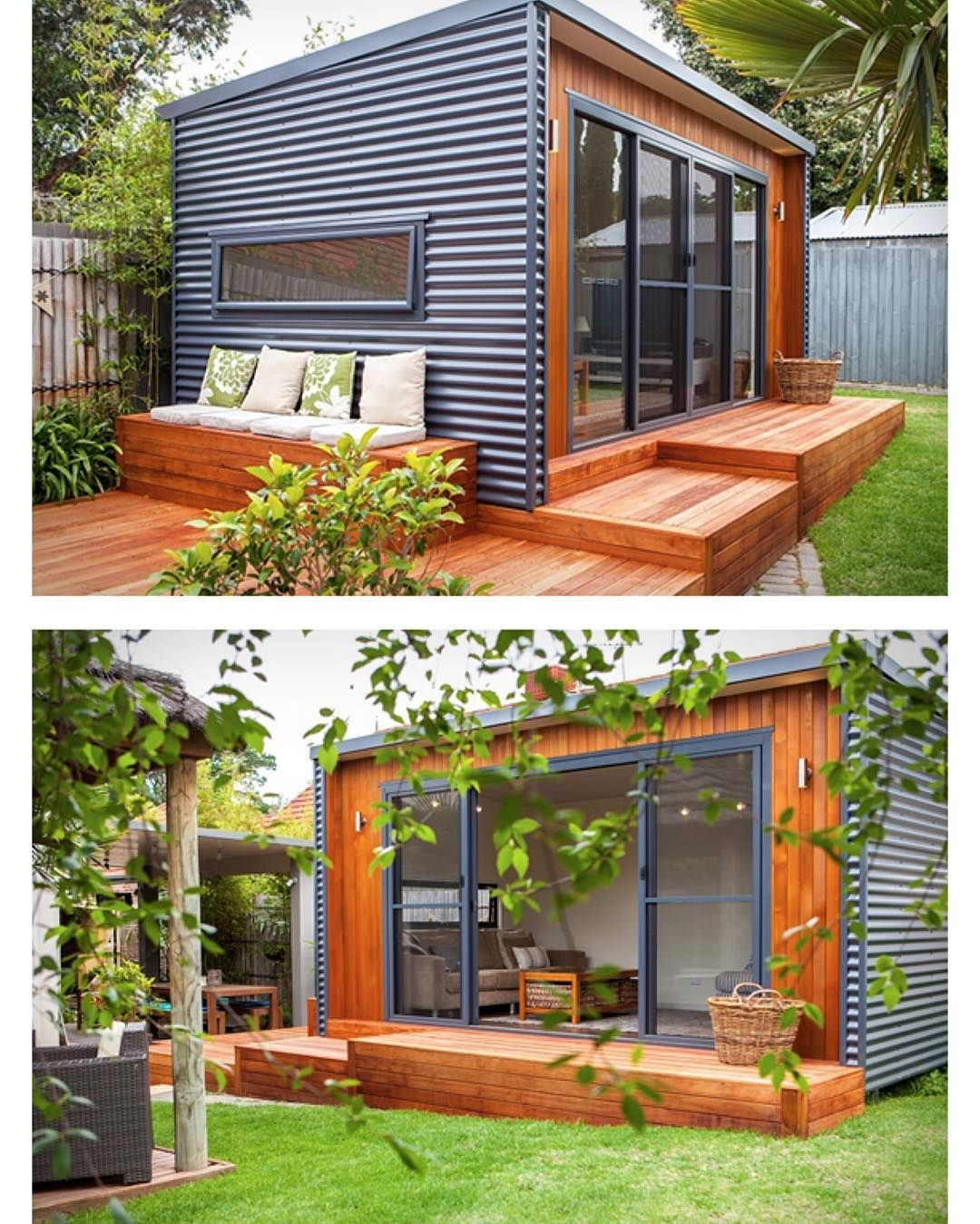 Backyard Offices by Inoutside #Australia | More images @prefabnsmallhomes #interiors #interiordesign #architecture #decoration #interior #home #design #camper #bookofcabins #homedecor #decoration #decor #prefab #diy #lifestyle #compactliving #fineinteriors #cabin #shed #tinyhomes #tinyhouse #cabinfever #inspiration #tinyhousemovement #airstream #treehouse #cabinlife #cottage #compactliving