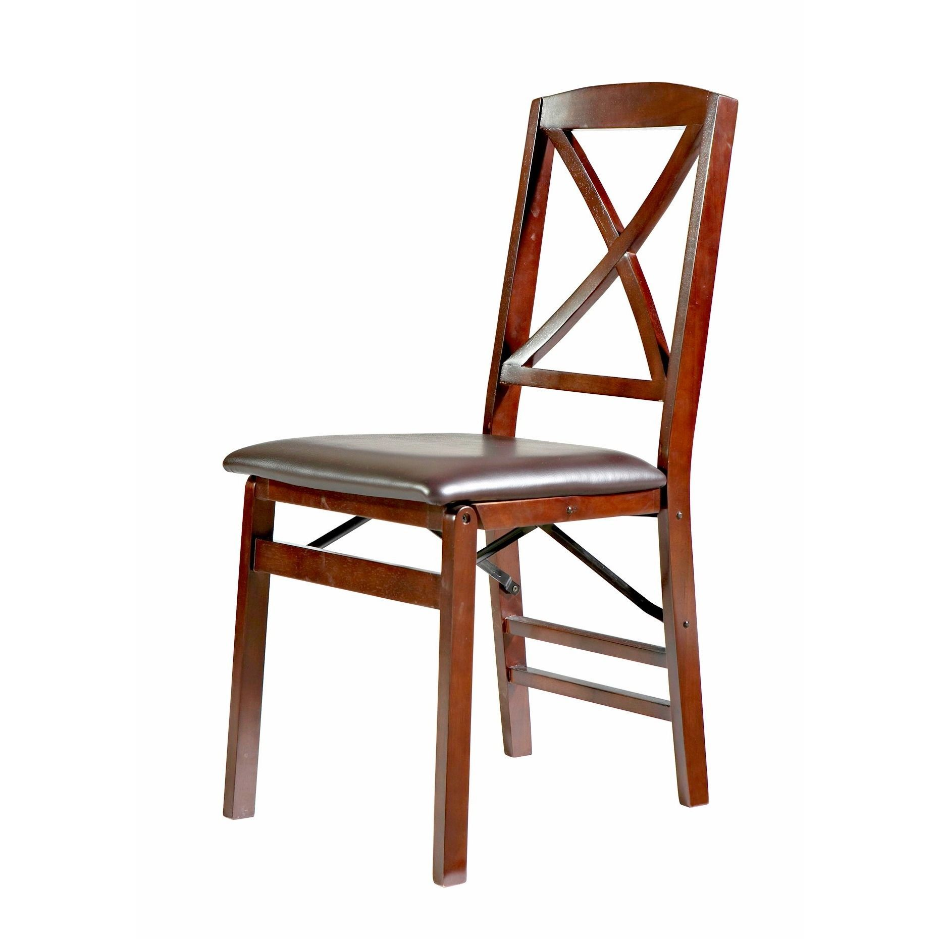 Miraculous Linon Lesvos Espresso X Back Folding Chair Set Of 2 Dark Squirreltailoven Fun Painted Chair Ideas Images Squirreltailovenorg